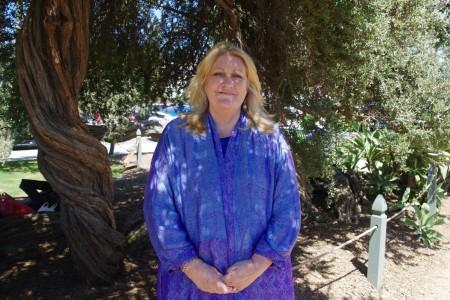 國際組織「公民人權協會」(CCHR)主席Jan Eastgate7月17日在洛杉磯聖莫尼卡碼頭7.20反迫害集會上。(劉菲/大紀元)