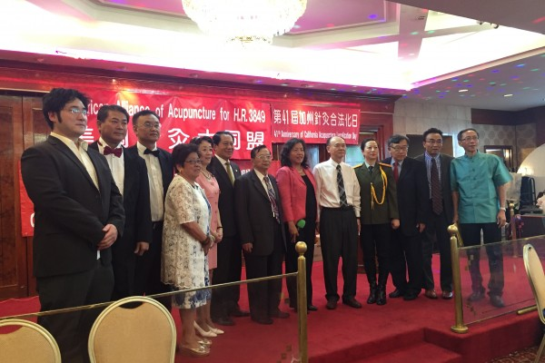 包括华裔、韩裔、日裔及越裔等多个中医组织参与了誓师大会。(黄文华/大纪元)