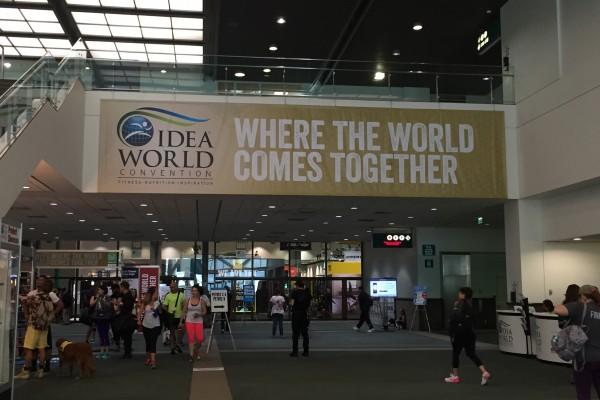每年會吸引眾多運動迷的IDEA世界健身大會,7月13日到17日在洛杉磯會展中心西廳舉行。(劉寧/大紀元)