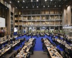 英國雖然公投要退出歐盟,但不必太久,英國人遲早還得再回到歐盟。圖為布魯塞爾歐盟總部內的記者大廳。(Getty Images)