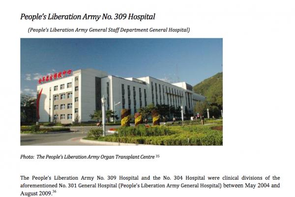解放军第309医院每年做多少器官移植手术?