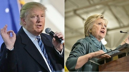 两党全代会军落幕,美国总统大选正式起跑。民主党候选人希拉里(图右)和共和党候选人川普(图左),均开始紧锣密鼓的准备接下来的选战。其中宾州是兵家必争之地,而俄州的地位也举足轻重。(Getty Images/大纪元合成)