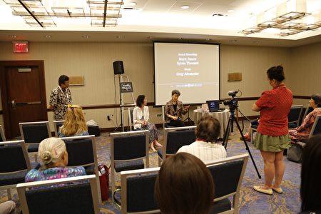 7月21日美華協會(OCA)在新澤西Westin酒店舉辦年會,反映紀錄片《誰殺死了陳果仁》。