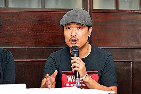电影监制及演员何骏怡。(王文君/大纪元)
