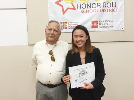图: 越南裔Christine Tran 获CACALA 第三届辩论赛奖,即将入读加州大学洛杉矶分校政治学专业(Juliet Zhu/大纪元)