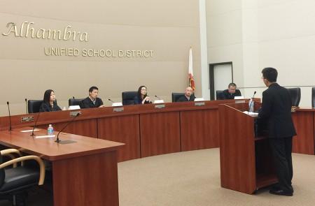 图:南加州同源会主办的第三届演讲比赛现场一景。