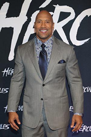 道恩‧强森(Dwayne Johnson)。 (Victor Chavez/Getty Images for Paramount Pictures International)