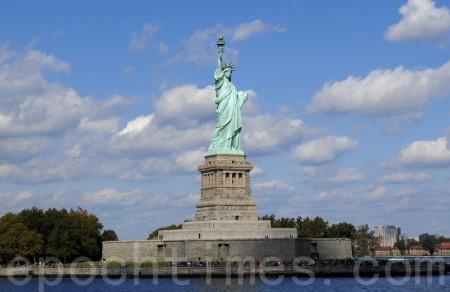 纽约自由女神雕像。(戴兵/大纪元)