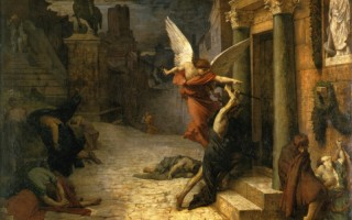 《被瘟疫侵袭的罗马城》,法国居勒-埃里‧德洛内1869年作,巴黎奥塞美术馆藏。(艺术复兴中心提供)