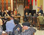 7月30日,中華總會館開月會討論撤旗案是否上訴,仍未成定論。(李霖昭/大紀元)