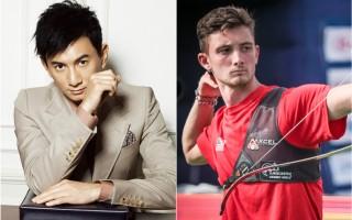 左图为吴奇隆,右图为奥运美国队射箭选手的扎克‧嘉瑞特。(Getty Images/大纪元合成)