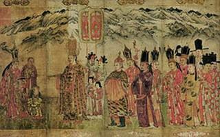 南宋時期大理國畫家張勝溫所繪《大理國梵像》局部,現藏台北故宮博物院。(公有領域)