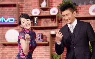 吴奇隆(右)近日受邀参与小S主持的节目录影当嘉宾。(爱奇艺提供)