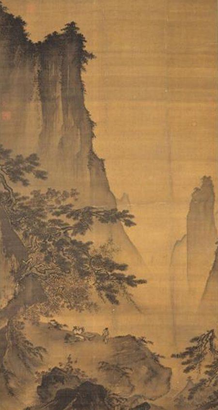 馬遠《對月圖》,他是南宋抒情山水畫的先驅,現藏台北故宮博物院。(公有領域)