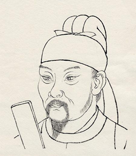 唐代詩人杜甫像(大紀元製圖)
