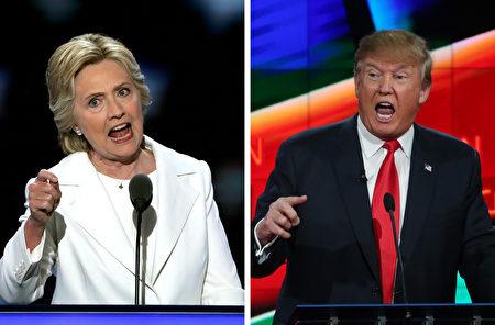 根据最新的CNN / ORC关键州民调,川普和希拉里在北卡罗来纳州难分轩轾,川普在亚利桑那州领先希拉里5%。(File photo, Alex Wong/ Justin Sullivan/Getty Images)