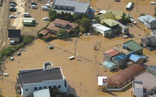 台风狮子山袭日本酿11死 北海道河川溃堤