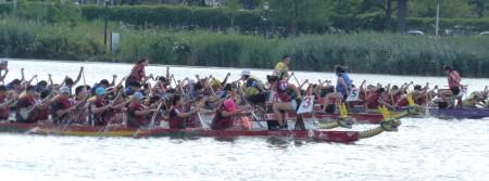 第26節紐約香港龍舟節,200多支隊伍2000多名選手湖上逐鹿。