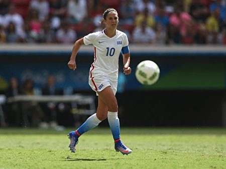 美国女足国脚卡莉•劳埃德(Carli Lloyd)。(Celso Junior/Getty Images)