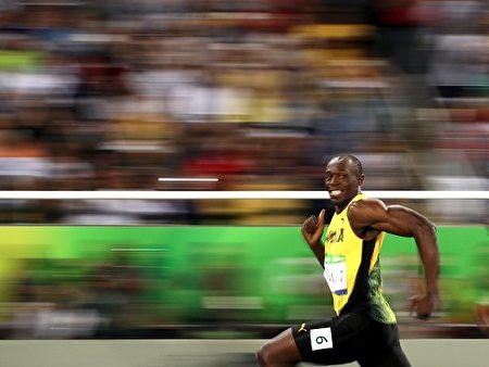 牙买加田径健将博尔特(Usain Bolt)。(Cameron Spencer/Getty Images)