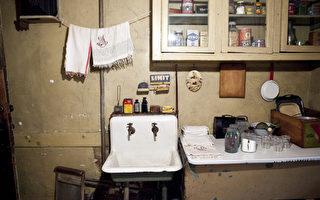 移民博物馆中还原的移民家庭厨房。 (Samira Bouaou/大纪元)
