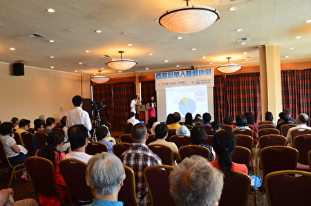 许多民众参加了医师们的演讲。(舜华/大纪元)