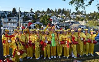 白石海洋节游行 大陆客赞法轮功队伍庞大