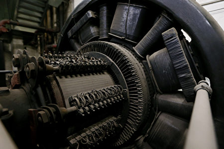 NEW YORK, NY - JANUARY 31: An antique generator remains in the Grand Central Terminal sub-basement on the day before the famed Manhattan transit hub turns 100 years old on January 31, 2013 in New York City. The terminal opened in 1913 and is the world's largest terminal covering 49 acres with 33 miles of track. Each day 700,000 people pass through the terminal where Metro-North Railroad operates 700 trains per day. (Photo by Mario Tama/Getty Images)
