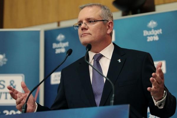 澳大利亞財長莫里森(Scott Morrison)表示, 初步決定拒絕中資對澳洲最大電網Ausgrid的競標。(Stefan Postles/Getty Images)