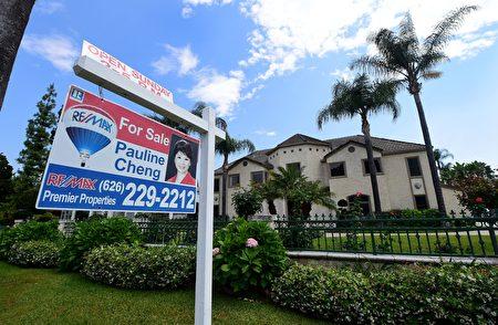 加州一处房屋待售。(FREDERIC J. BROWN/AFP/Getty Images)