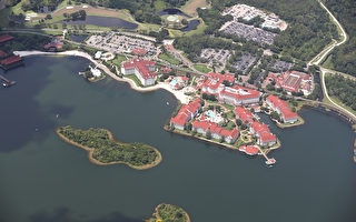 美國佛州奧蘭多迪斯尼的大逸度假村(Grand Floridian Resort)。(Joe Raedle/Getty Images)