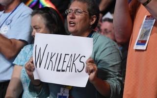 7月26日民主黨全國代表大會上的抗議者。(SAUL LOEB/AFP/Getty Images)