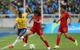 里約2016:桑巴女團3:0大勝中國女足