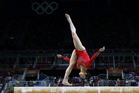 美国体操运动员Alexandra Raisman。(Elsa/Getty Images)