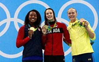 女子100米自由泳 美加同破奧運紀錄奪金