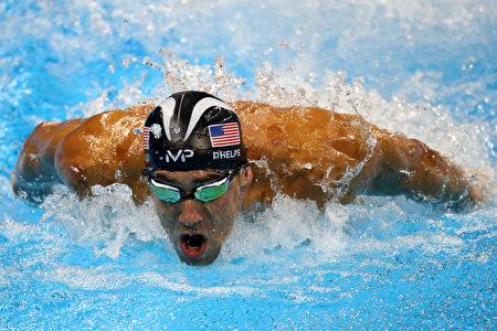 """美国""""飞鱼""""菲尔普斯(Michael Phelps)这次铁了心,里约奥运后,就要高挂泳帽退休了。 (Dean Mouhtaropoulos/Getty Images)"""