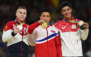 奧運領獎台上 朝鮮跳馬冠軍看似苦不堪言