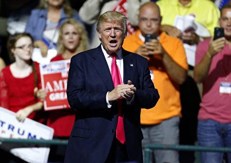 美国共和党总统候选人、地产大亨川普。( Jonathan Bachman/Getty Images)