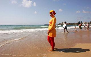 法国戛纳沙滩禁穿全身泳衣