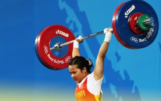 北京奥运会中国代表团首金得主陈燮霞在兴奋剂检测中呈阳性。(Streeter Lecka/Getty Images)