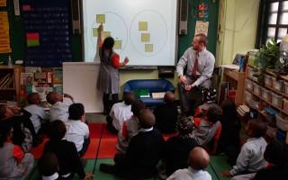 美國紐約的一所小學課堂。(Chris Hondros/Getty Images)