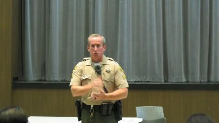 洛县警署副警长布恩‧桑福德。(袁玫/大纪元)