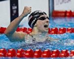 19岁的美国名将莱德基,12日将在女子800米自由泳中向自己本届奥运会的第4面金牌发起冲击。 (Clive Rose/Getty Images)