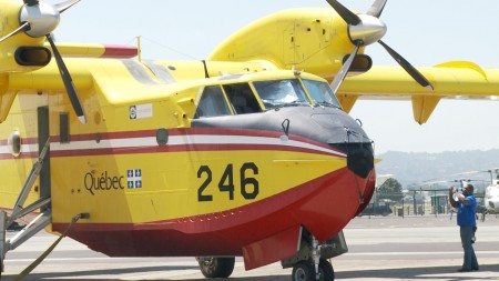 消防飞行艇。(杨阳/大纪元)