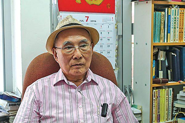 艺发局前文学组主席寒山碧认为香港的表达自由再次受限。(余钢/大纪元)