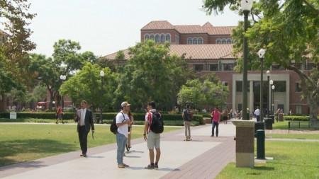 南加州大学校园。(杨阳/大纪元)