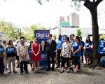 李金枝17日公佈五點改善選區內社會服務的計劃。 (李金枝提供)