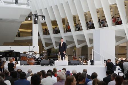 韋斯特菲爾德美國區運營總監赫克特在開幕儀式上講話。