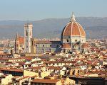 佛羅倫斯聖母百花大教堂和它的紅瓦穹頂。(公共領域)