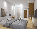 看似大空间的小卧室,经过精心的调整,能感觉很宽敞。(shutterstock)